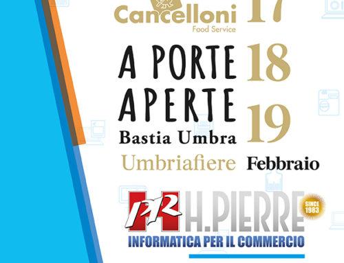"""H.Pierre presente a """"Cancelloni A PORTE APERTE 2020"""" presso Umbria Fiere"""